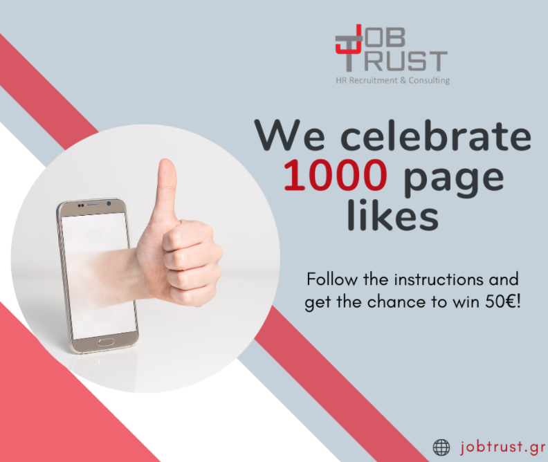 We celebrate our page's 1000 followers on Facebook!